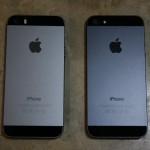 iPhone5 と iPhone5s 黒